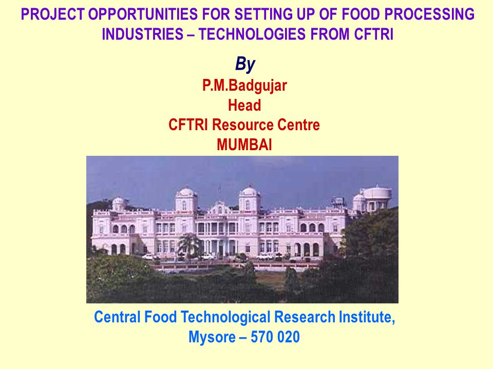Central Food Technological Research Institute,