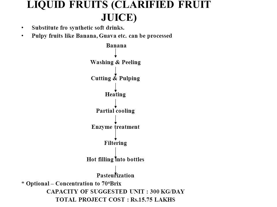 LIQUID FRUITS (CLARIFIED FRUIT JUICE)