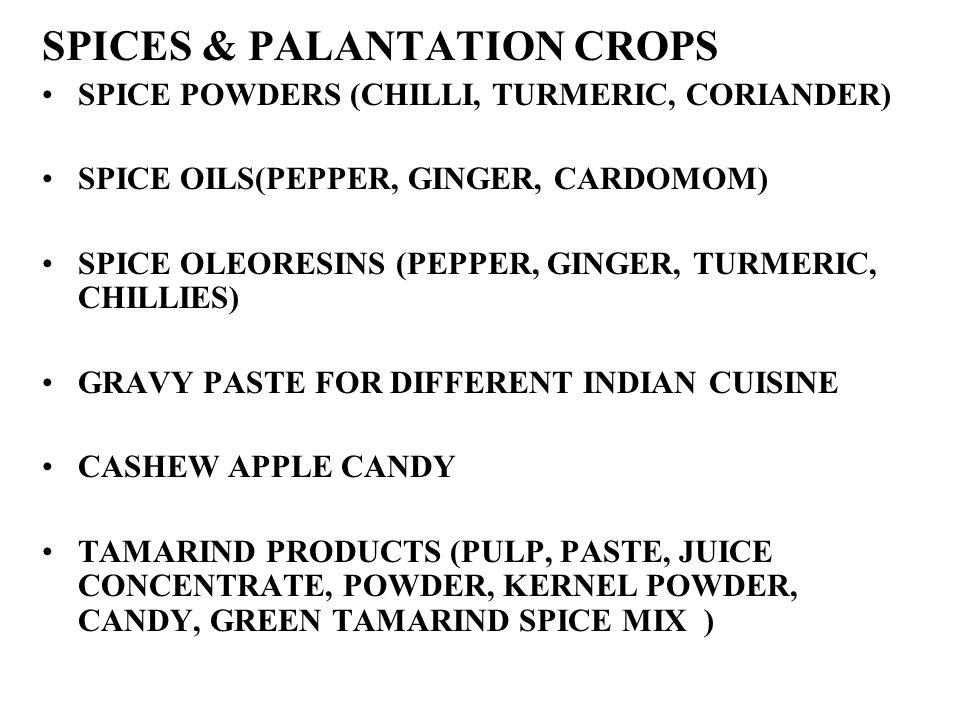 SPICES & PALANTATION CROPS