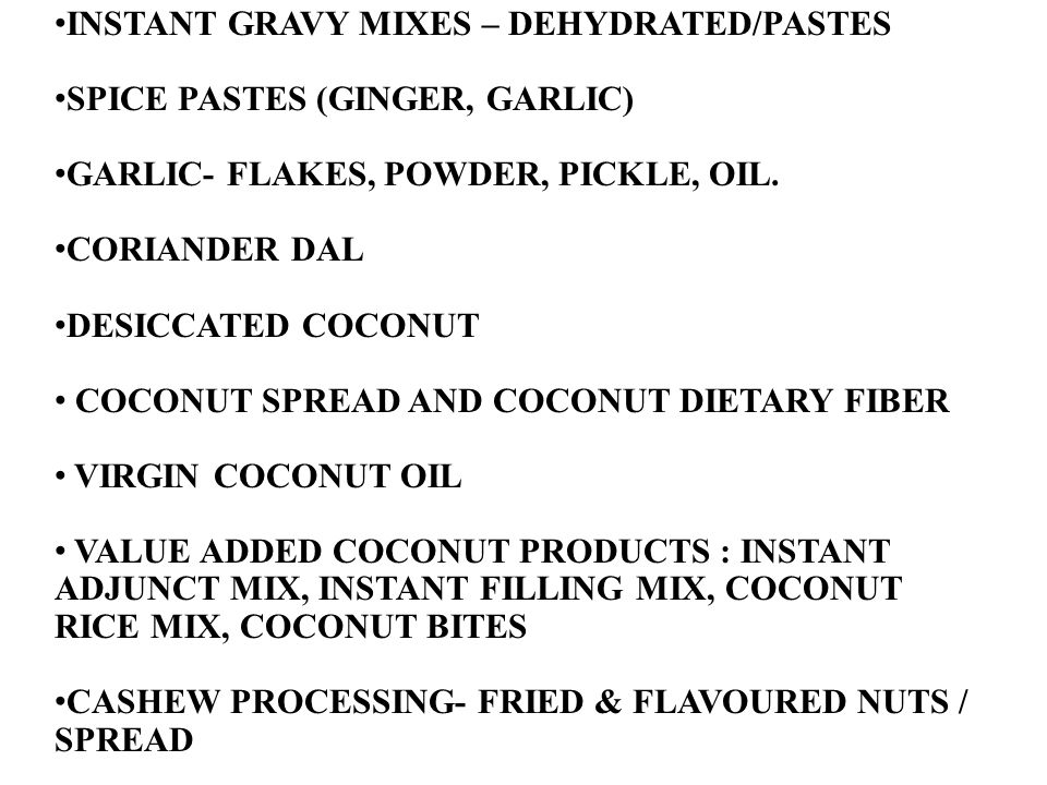 INSTANT GRAVY MIXES – DEHYDRATED/PASTES