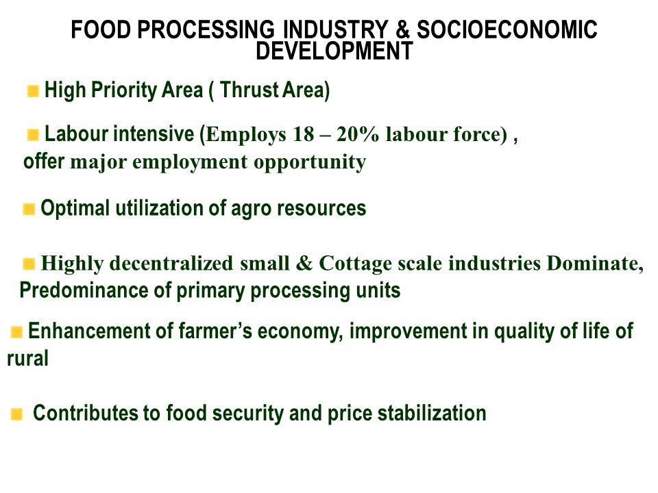 FOOD PROCESSING INDUSTRY & SOCIOECONOMIC DEVELOPMENT