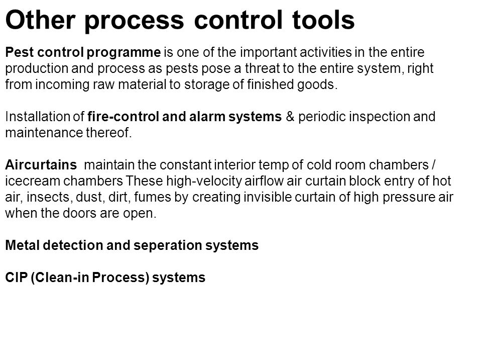 Other process control tools
