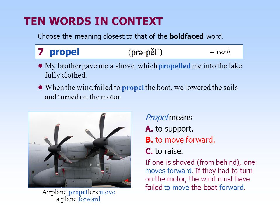 Airplane propellers move