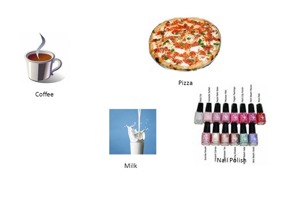 Pizza Coffee Nail Polish Milk