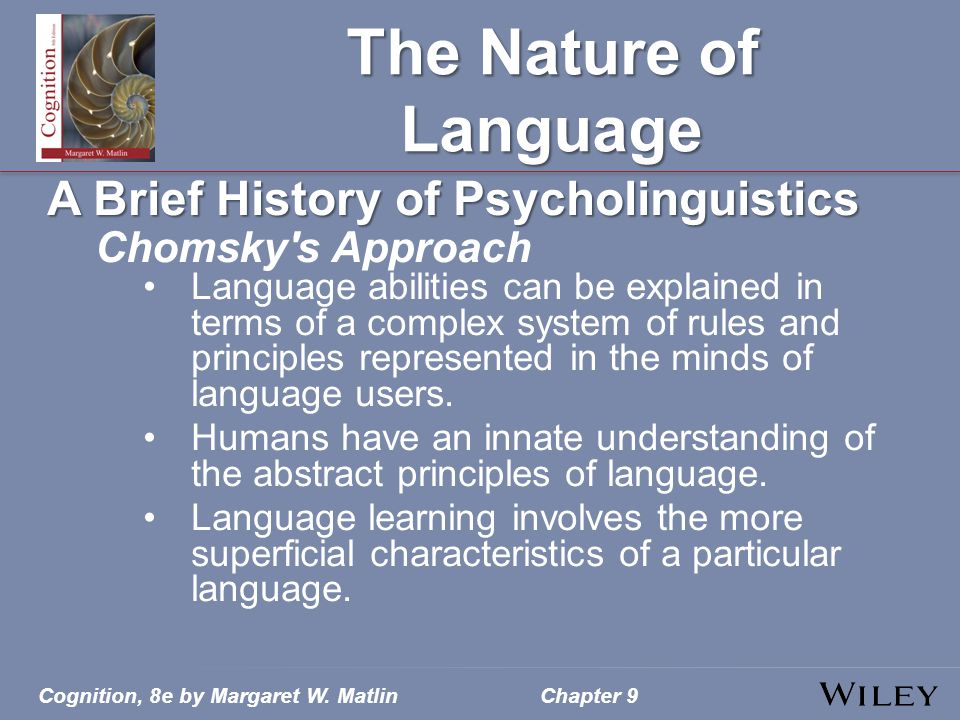 The Nature of Language A Brief History of Psycholinguistics