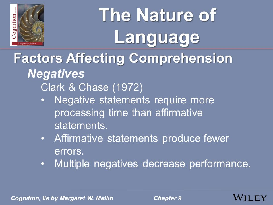 The Nature of Language Factors Affecting Comprehension Negatives