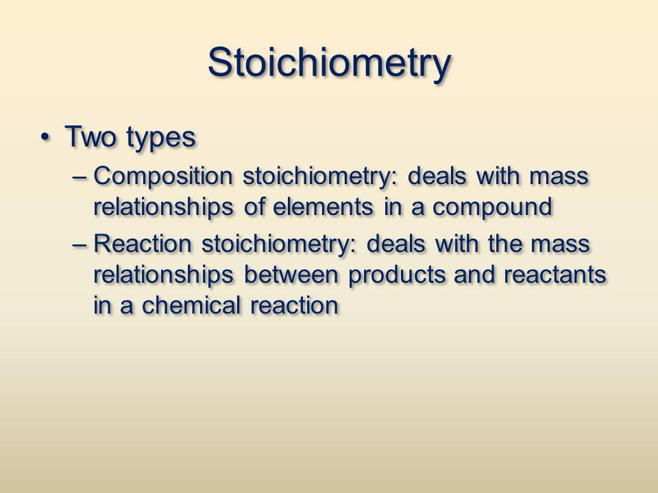 Stoichiometry Two types