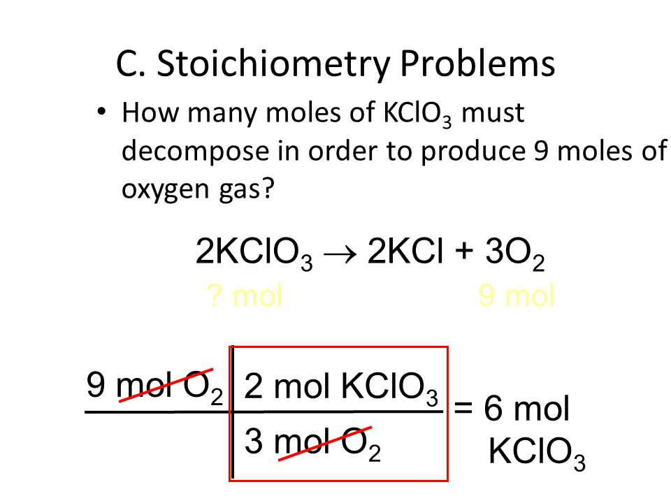 C. Stoichiometry Problems
