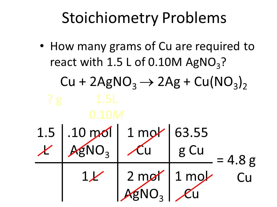 Stoichiometry Problems