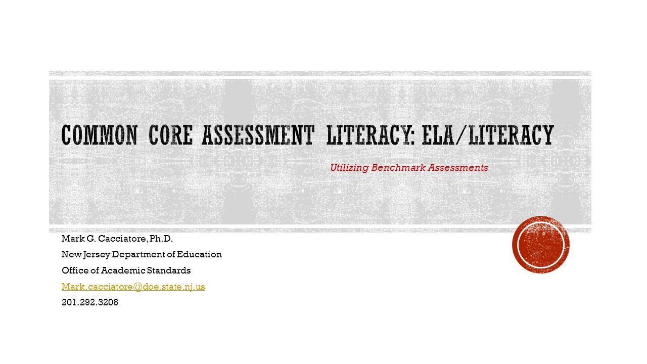Common Core Assessment Literacy: ELA/Literacy