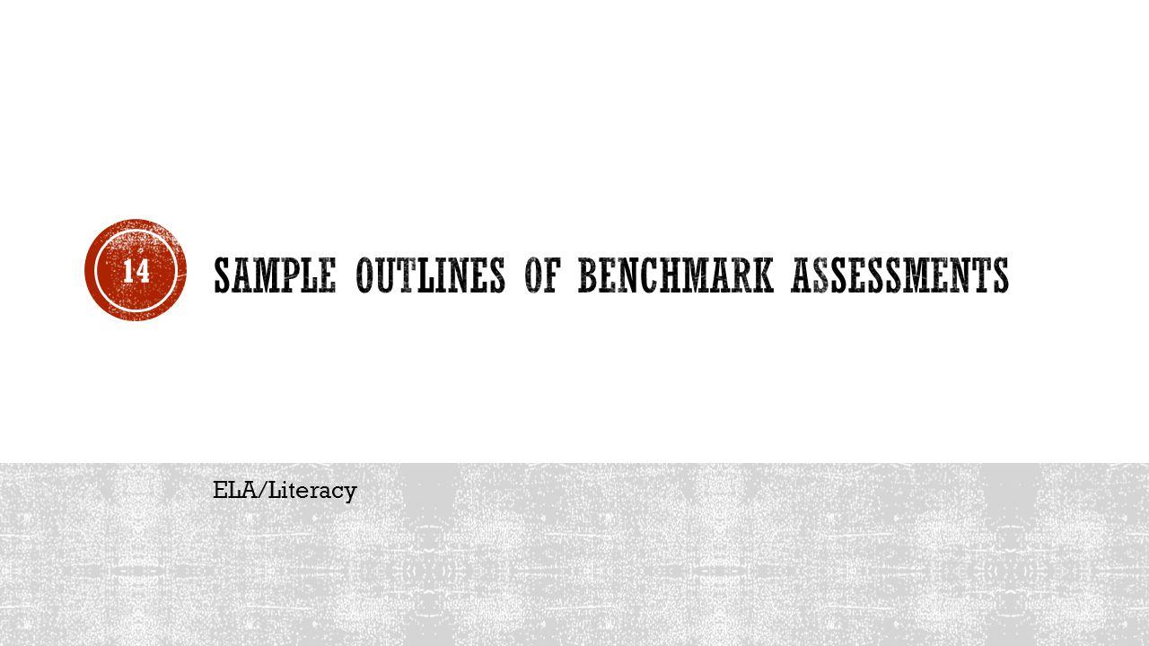 Sample Outlines of Benchmark Assessments