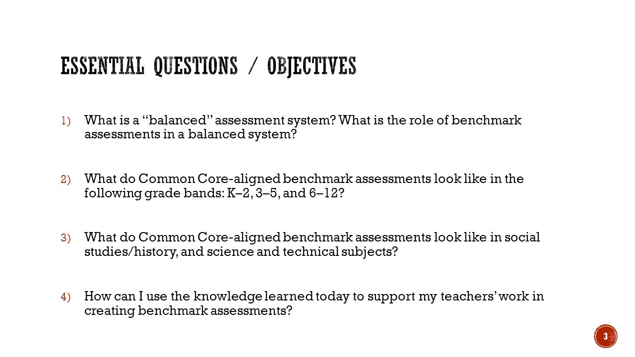 Essential Questions / Objectives