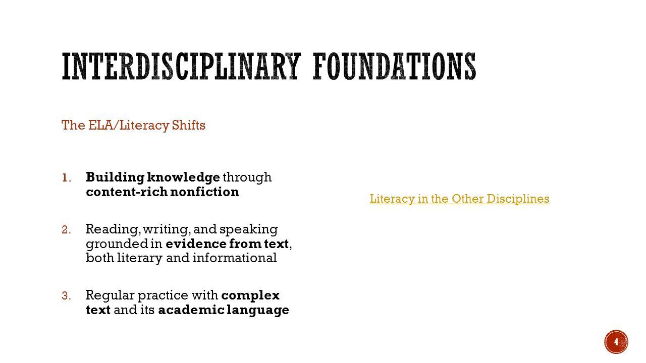 Interdisciplinary Foundations