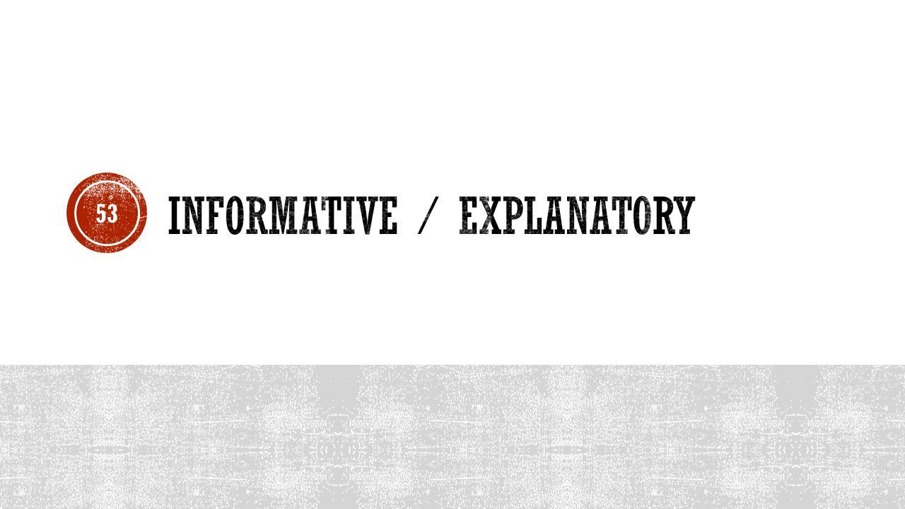 Informative / Explanatory