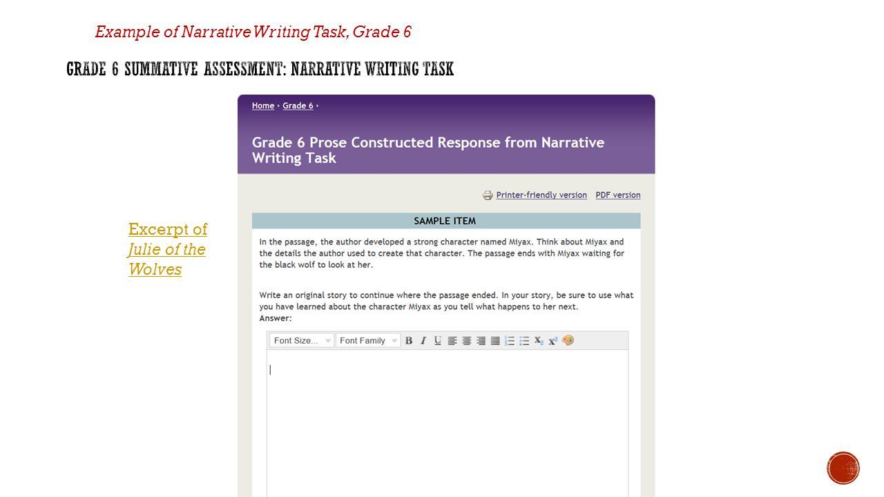 Grade 6 Summative Assessment: Narrative Writing Task