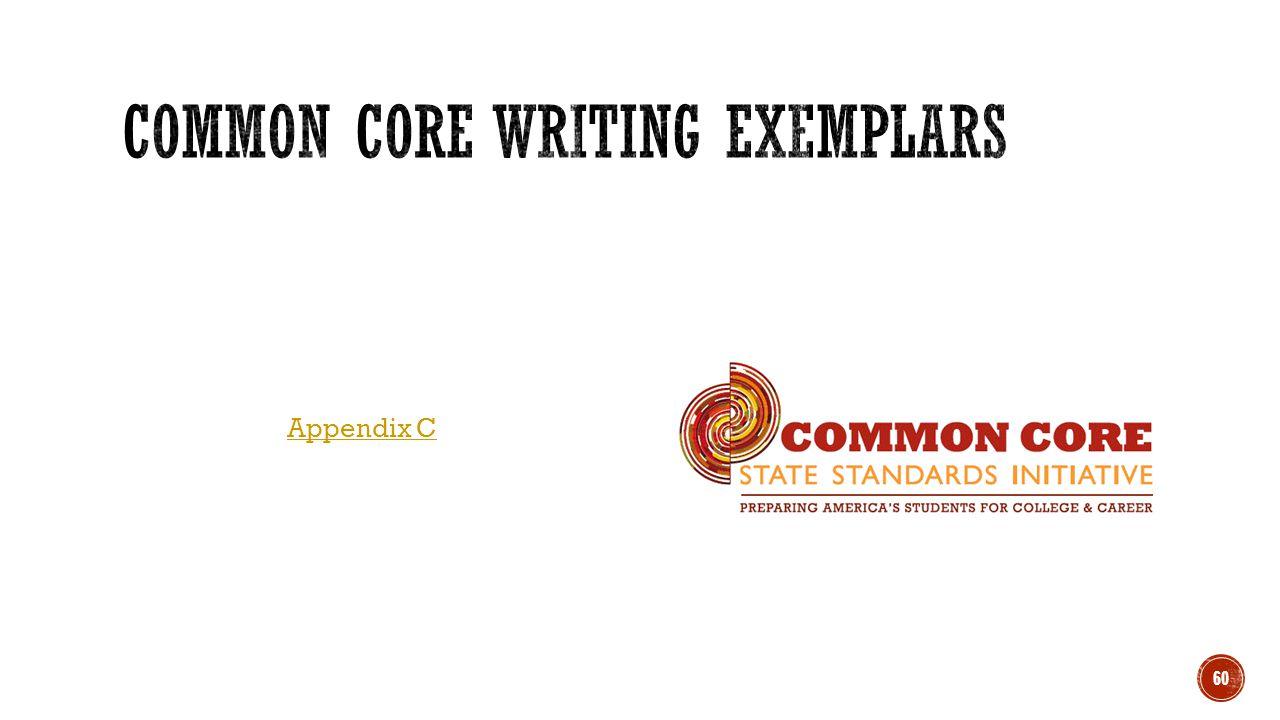 Common Core Writing Exemplars