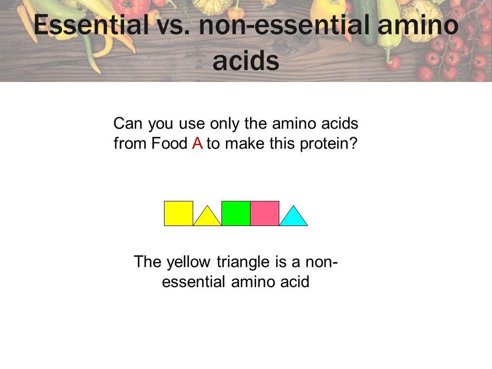 Essential vs. non-essential amino acids