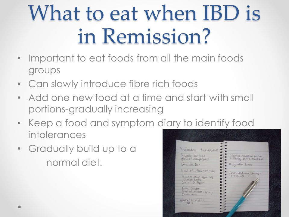 What to eat when IBD is in Remission