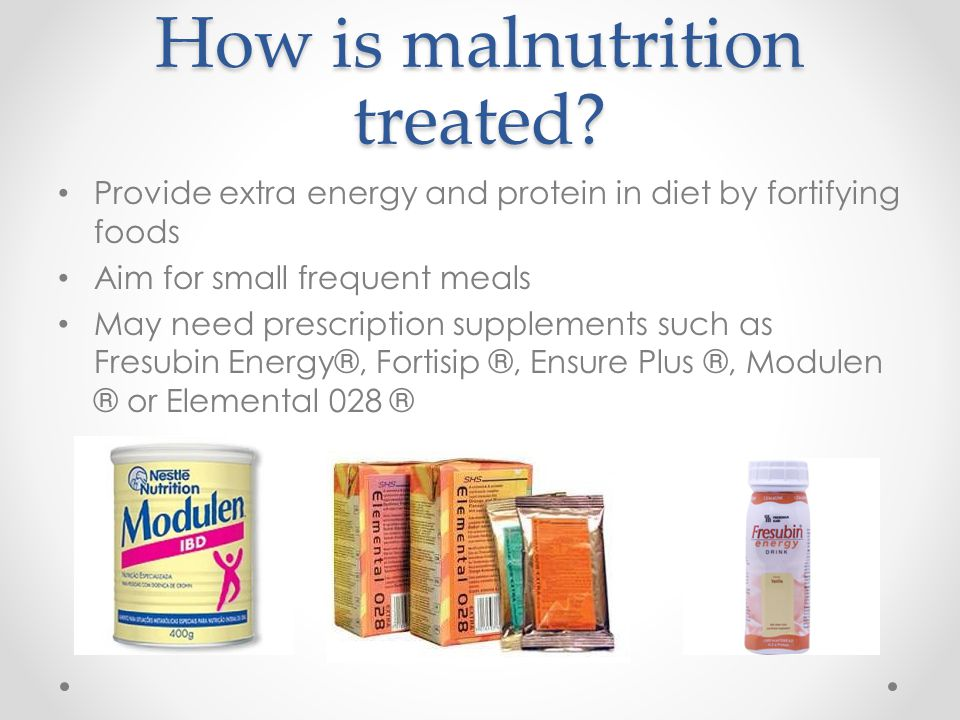 How is malnutrition treated