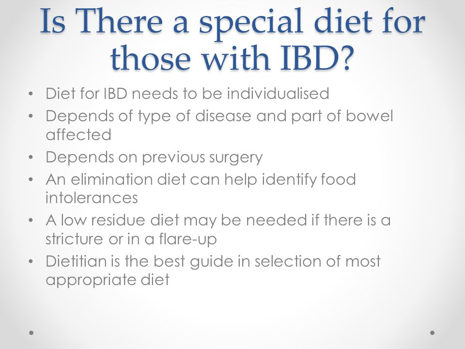 Is There a special diet for those with IBD