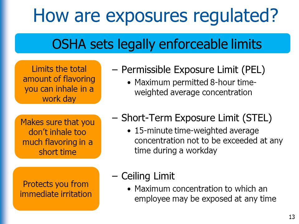 How are exposures regulated