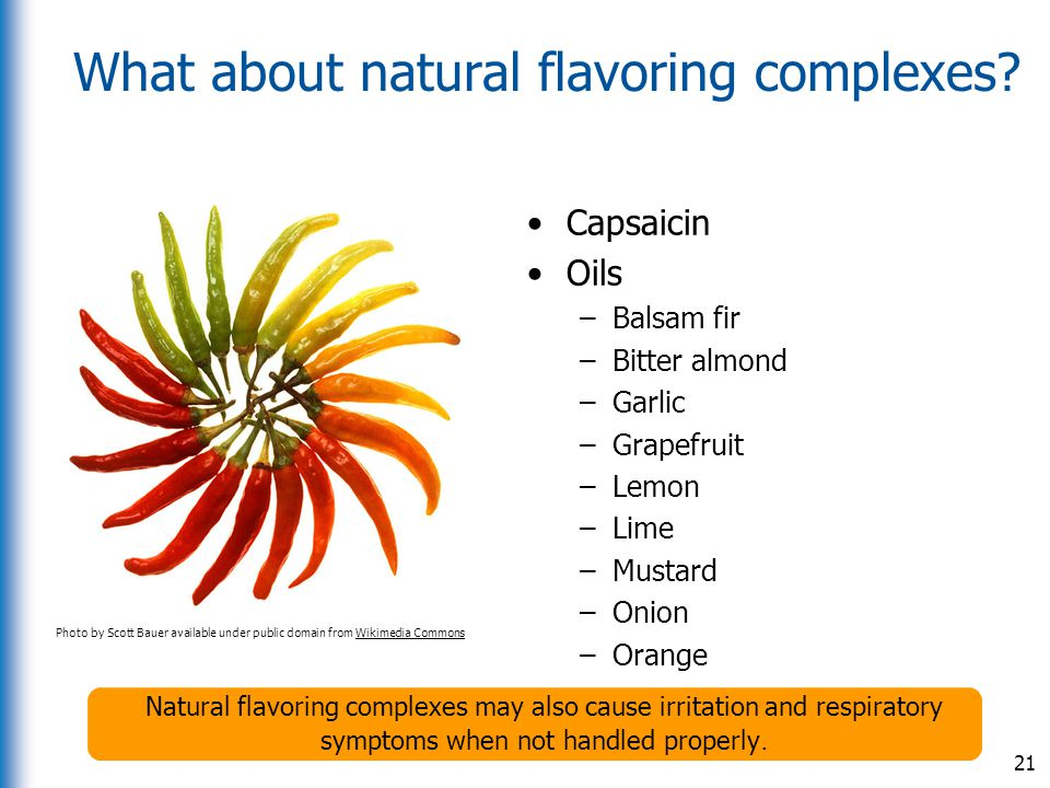 What about natural flavoring complexes