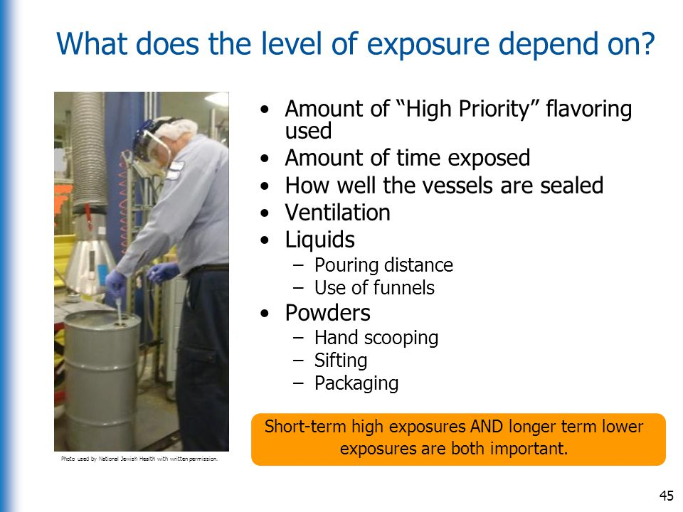 What does the level of exposure depend on