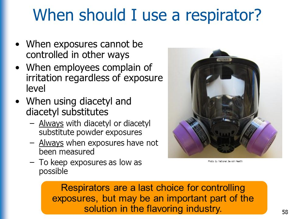When should I use a respirator