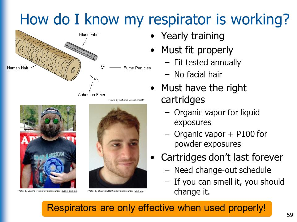 How do I know my respirator is working