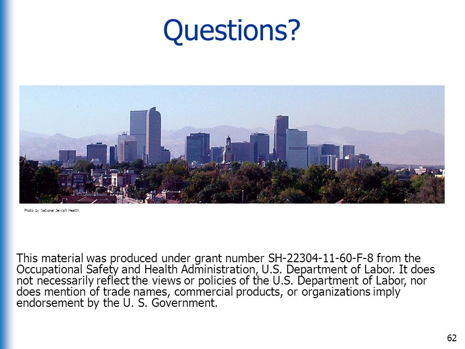 Questions Photo by National Jewish Health.