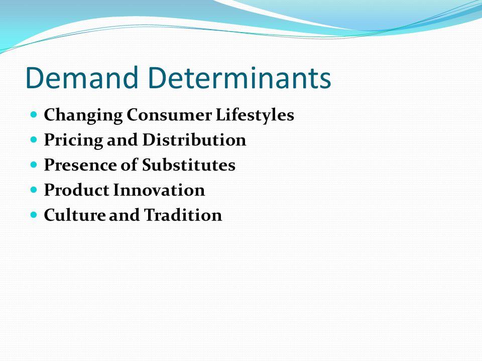 Demand Determinants Changing Consumer Lifestyles