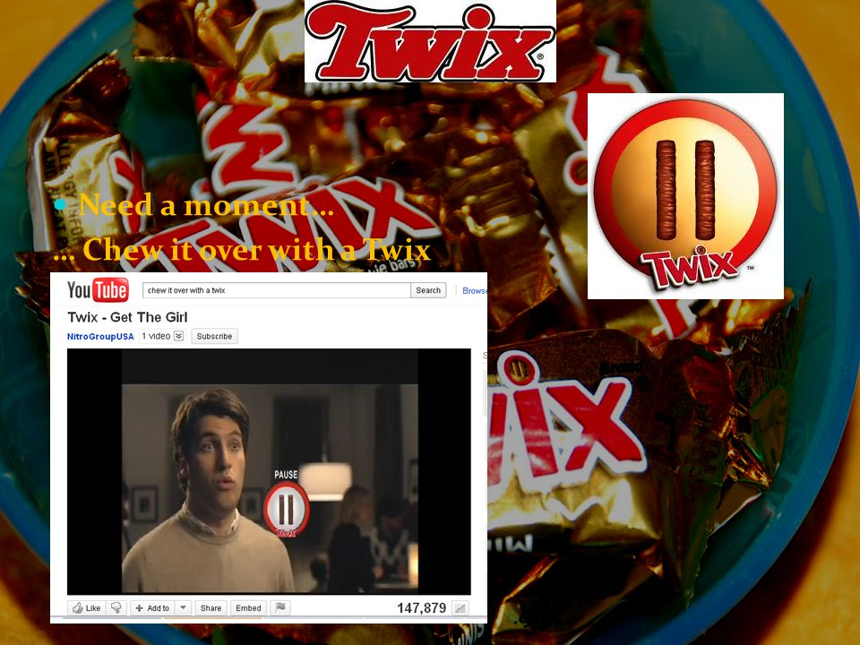 Need a moment… … Chew it over with a Twix