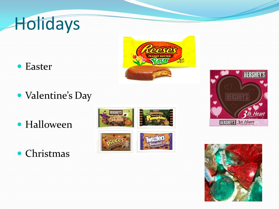 Holidays Easter Valentine's Day Halloween Christmas