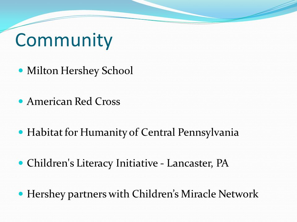 Community Milton Hershey School American Red Cross