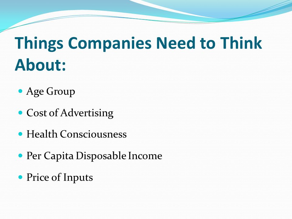 Things Companies Need to Think About: