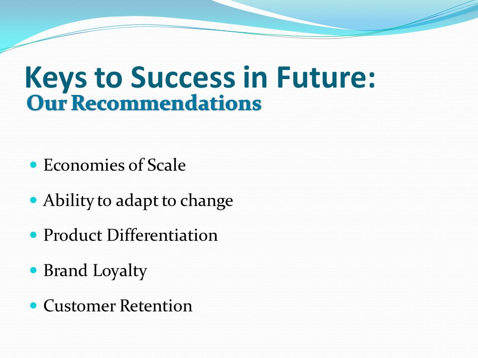 Keys to Success in Future: