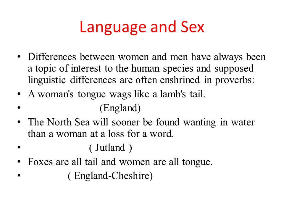 Language and Sex