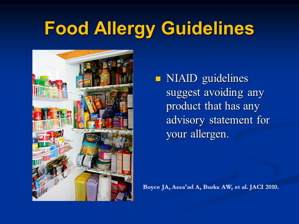 Food Allergy Guidelines