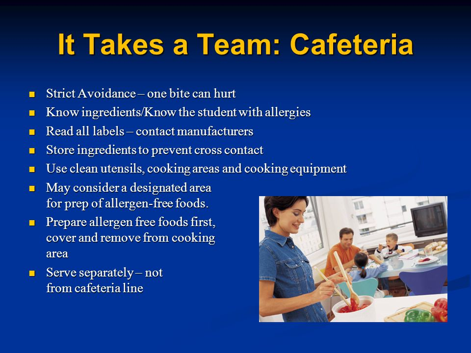 It Takes a Team: Cafeteria