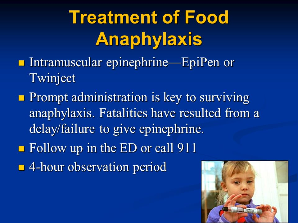Treatment of Food Anaphylaxis