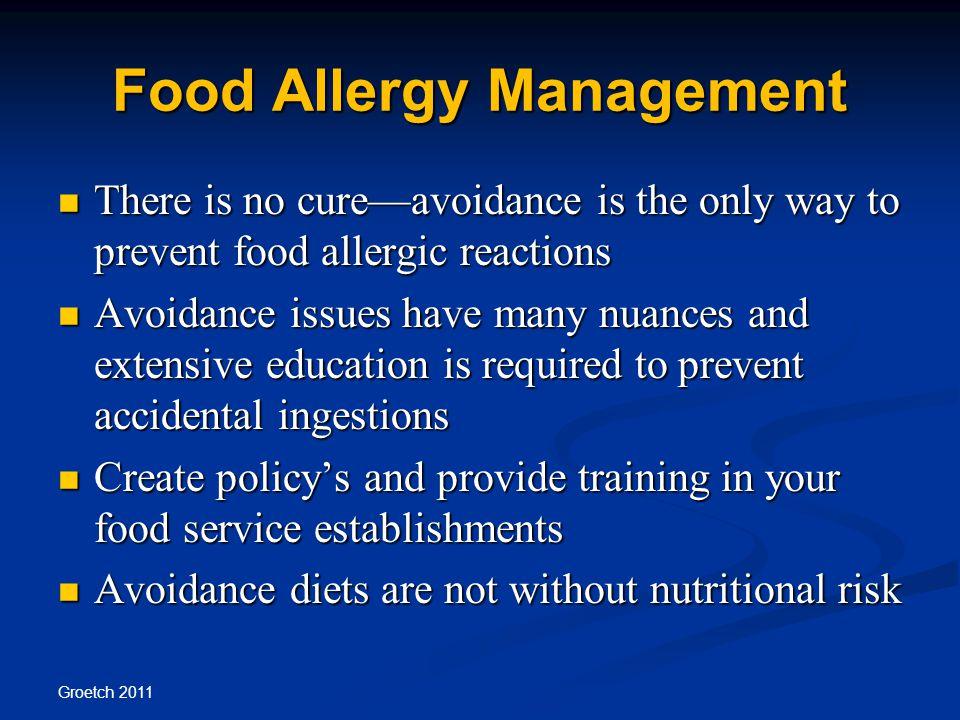 Food Allergy Management