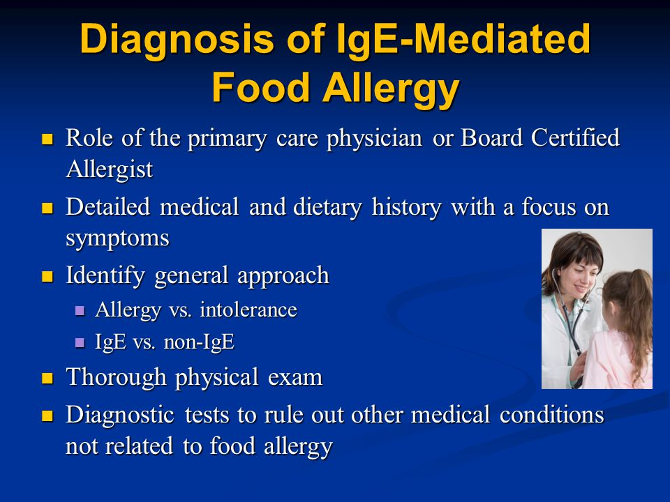 Diagnosis of IgE-Mediated Food Allergy