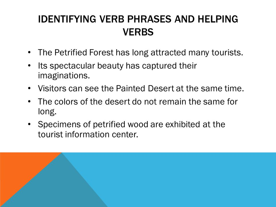 identifying verb phrases and helping verbs