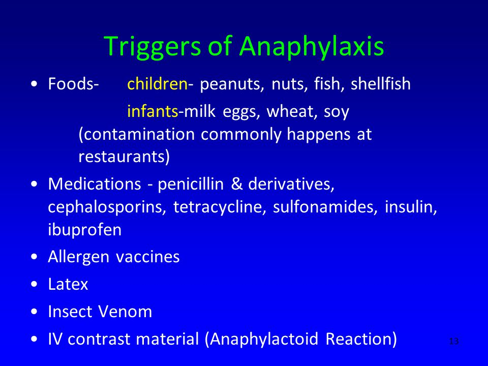 Triggers of Anaphylaxis