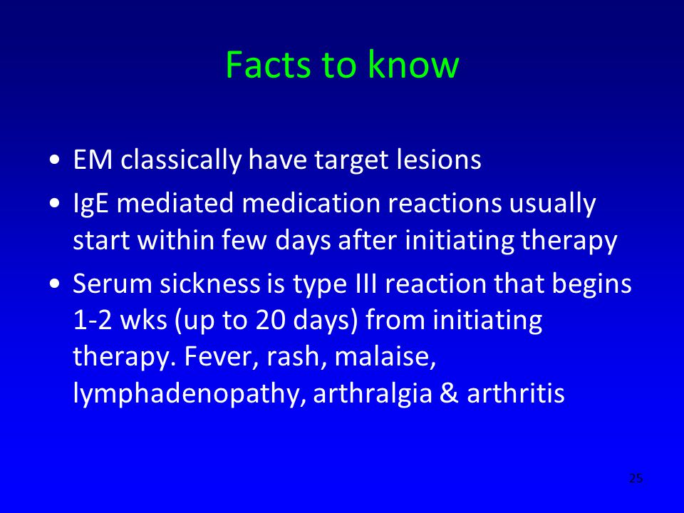 Facts to know EM classically have target lesions