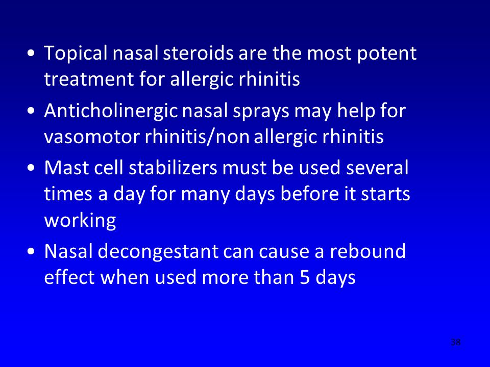 Topical nasal steroids are the most potent treatment for allergic rhinitis