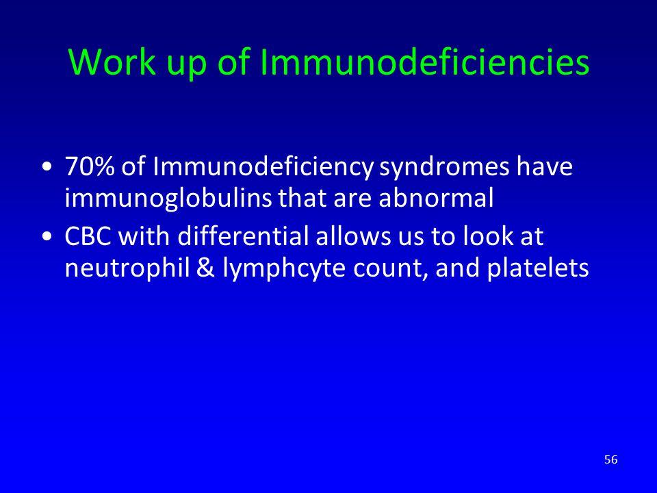 Work up of Immunodeficiencies
