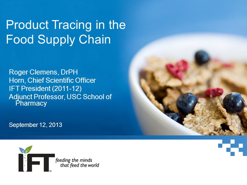Product Tracing in the Food Supply Chain