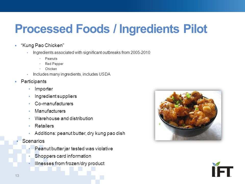 Processed Foods / Ingredients Pilot