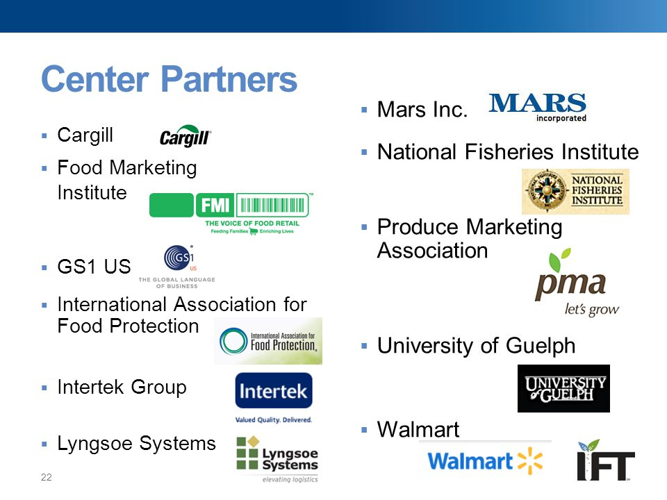 Center Partners Mars Inc. National Fisheries Institute